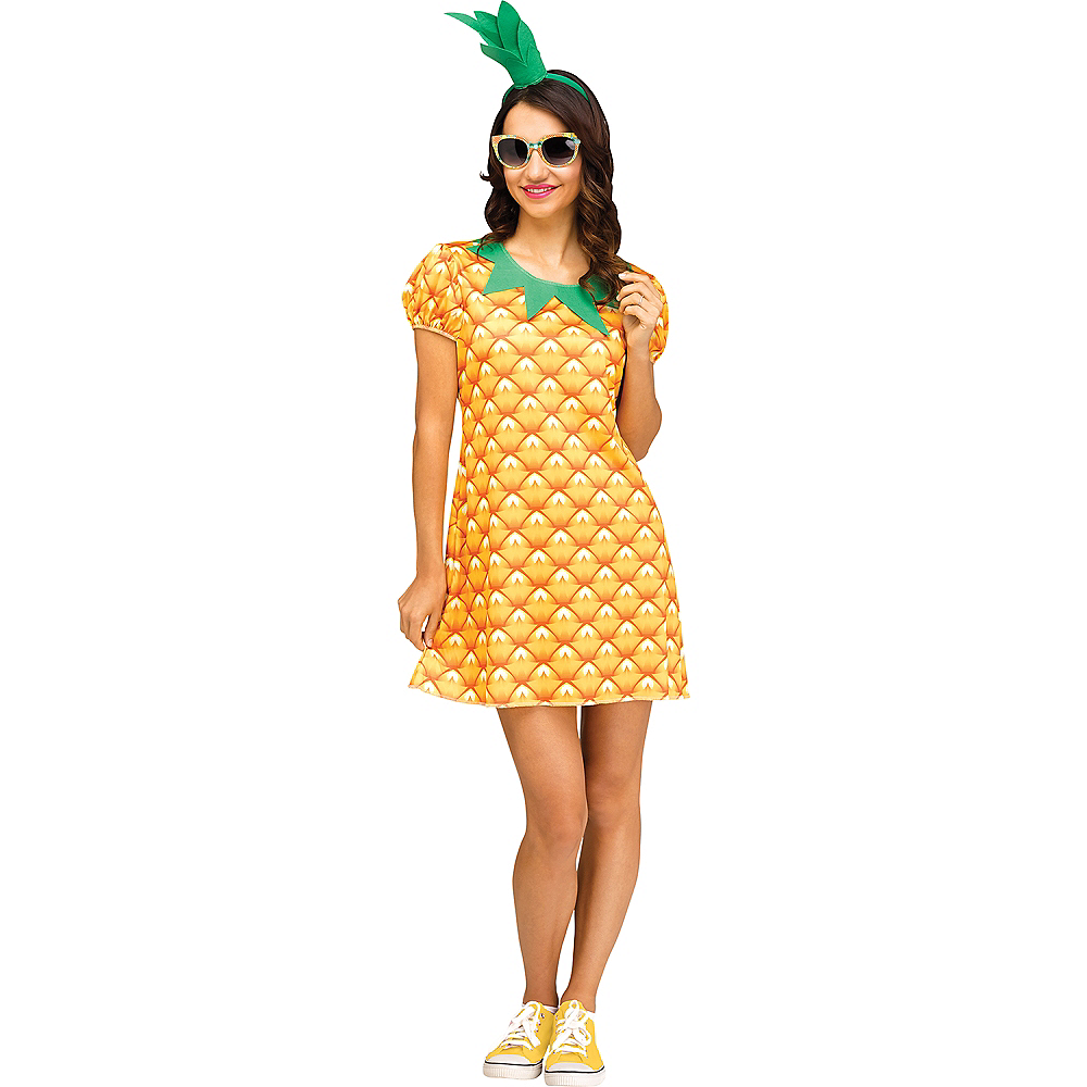 Womens Flirty Fruit Pineapple Costume Image #1