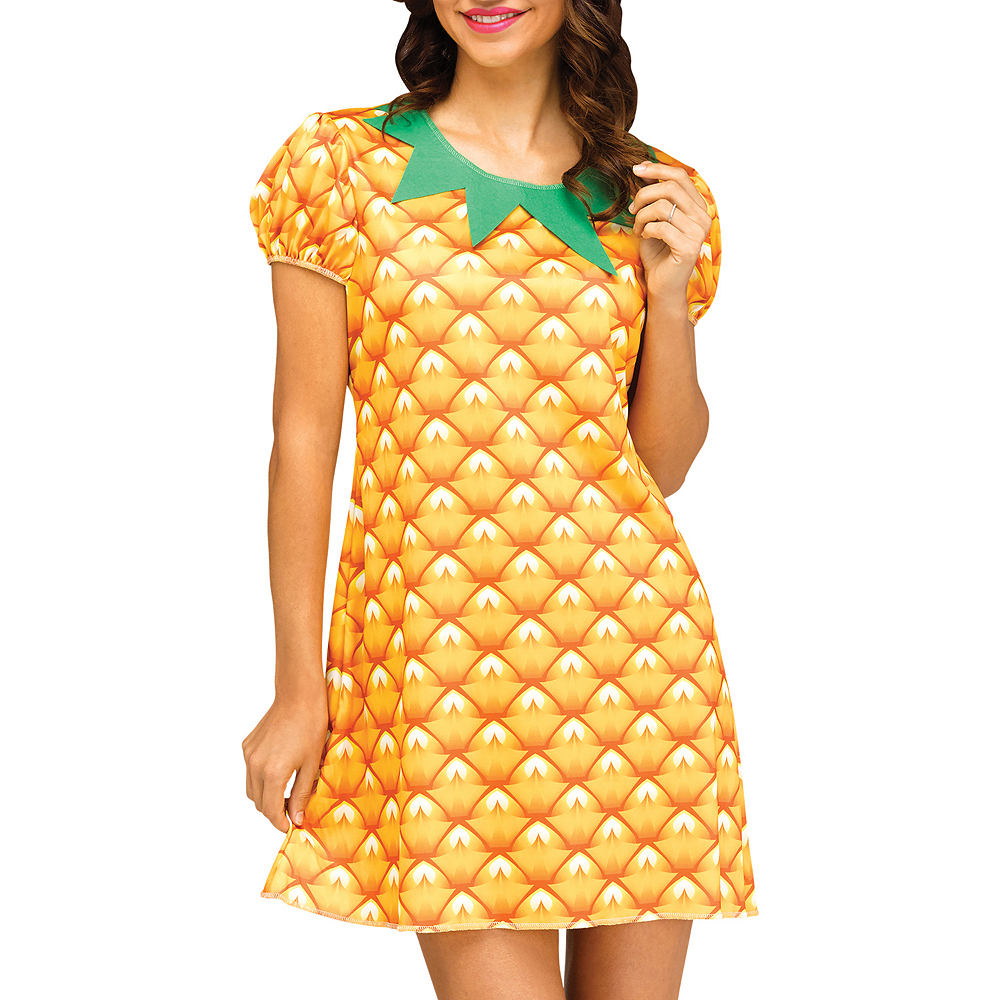 Womens Flirty Fruit Pineapple Costume Image #3