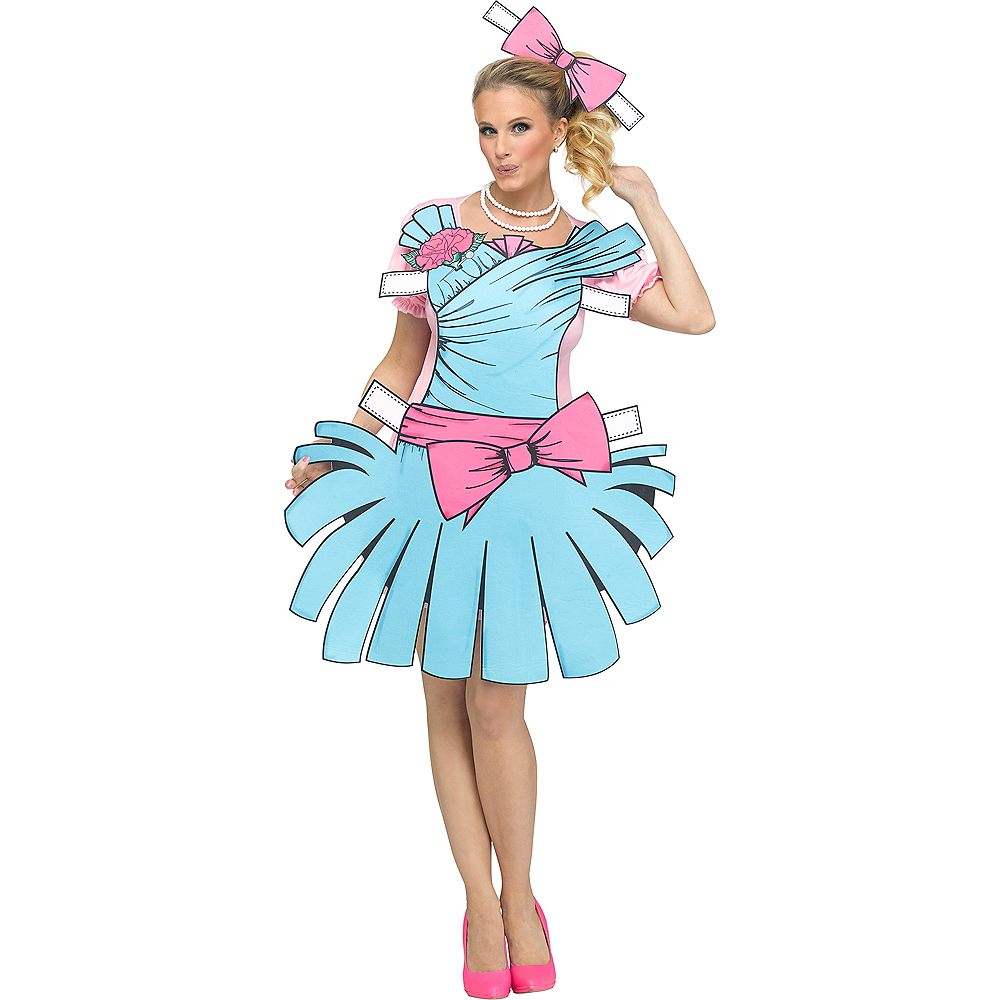 Womens Paper Doll Costume Image #1