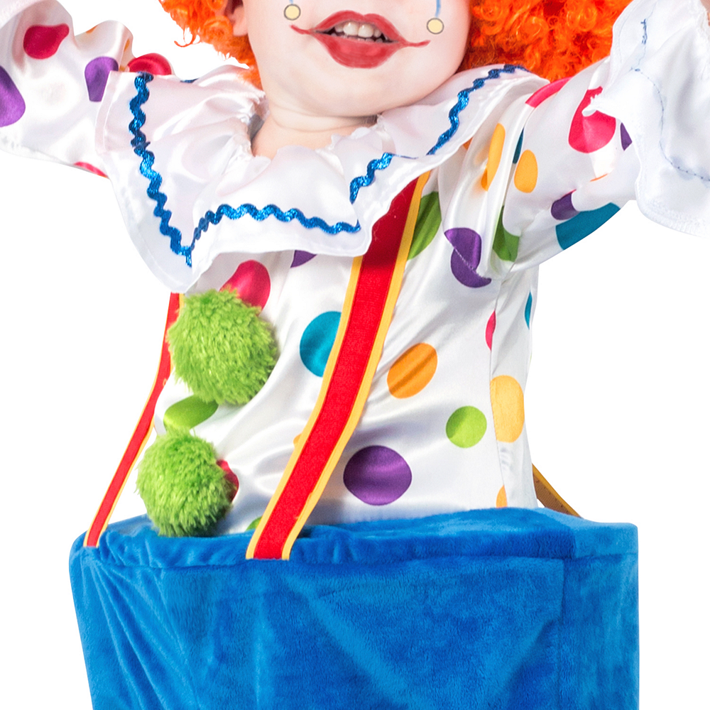 Child Colorful Circus Clown Costume Image #3