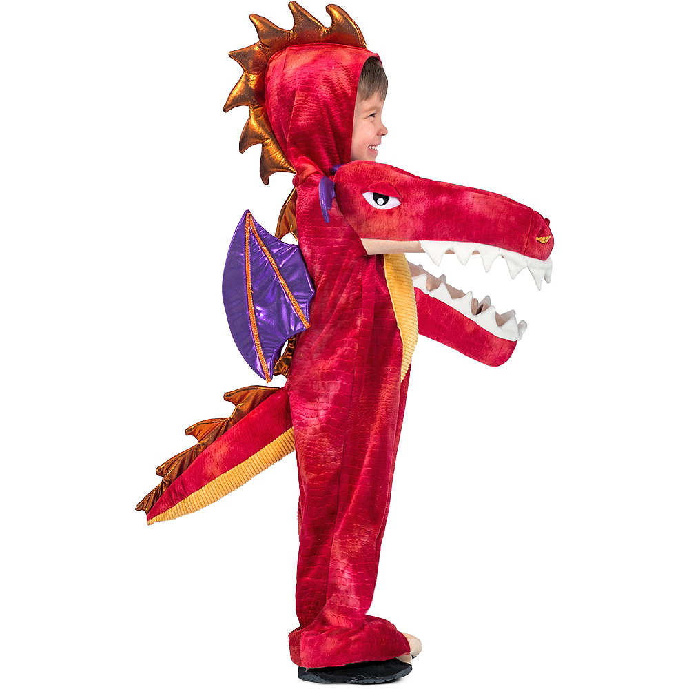 Child Chompin' Red Dragon Costume Image #1