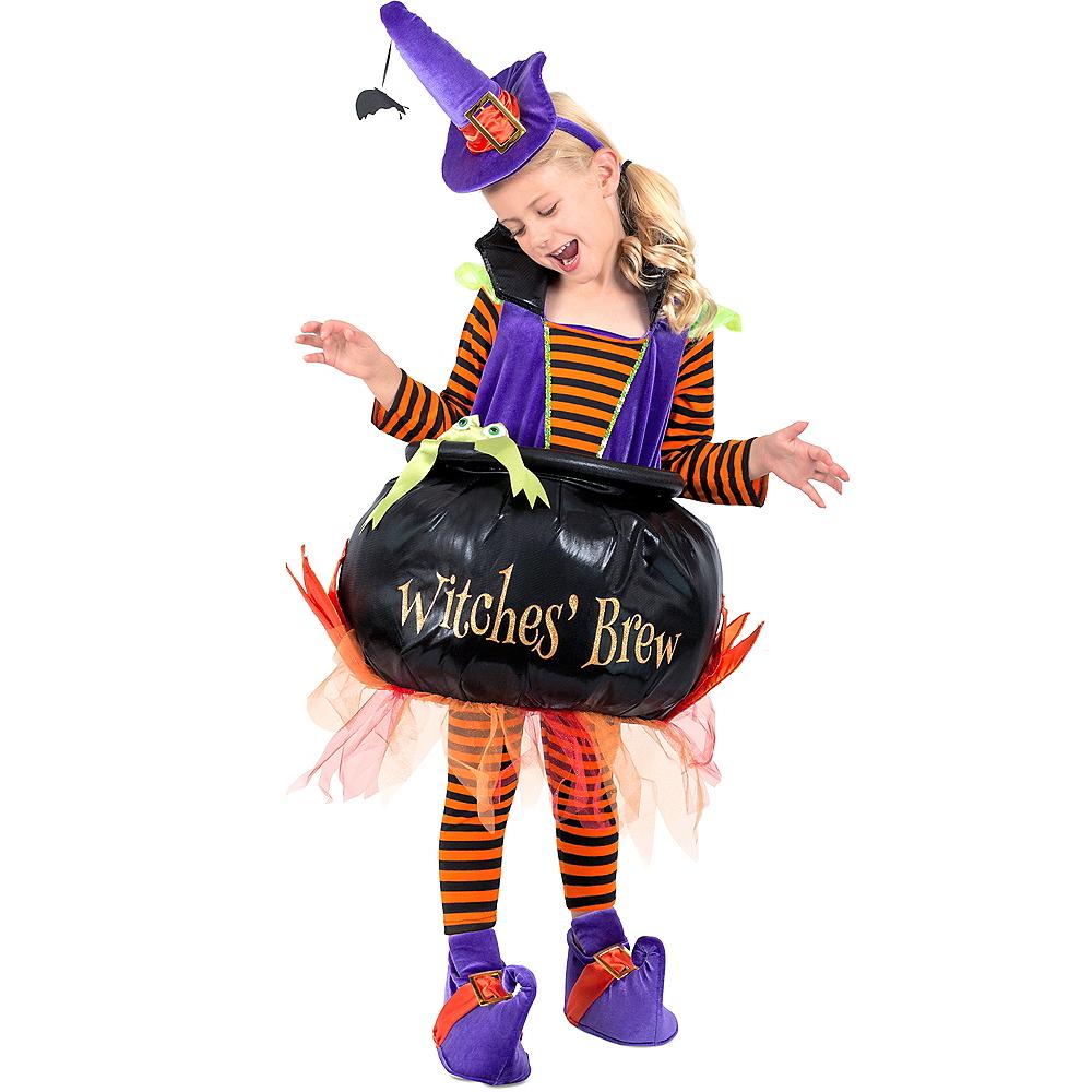 Girls Cauldron Witch Costume Image #1