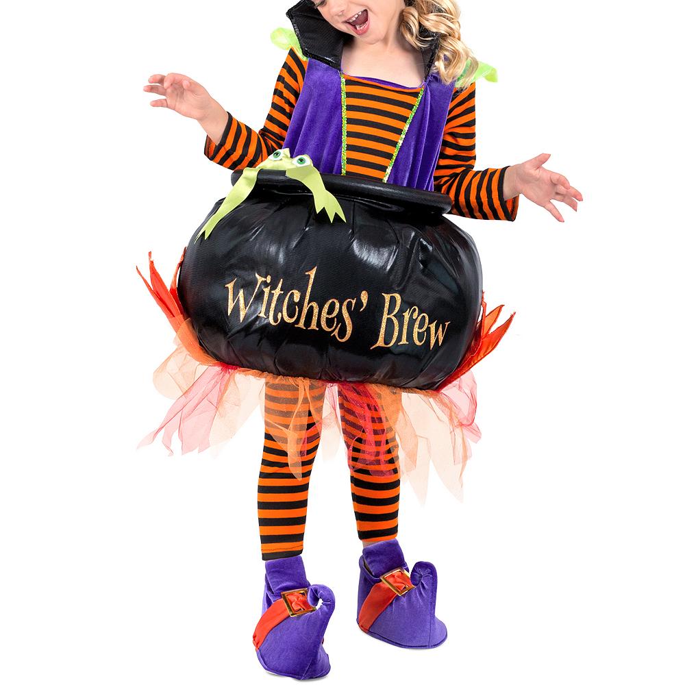 Girls Cauldron Witch Costume Image #4