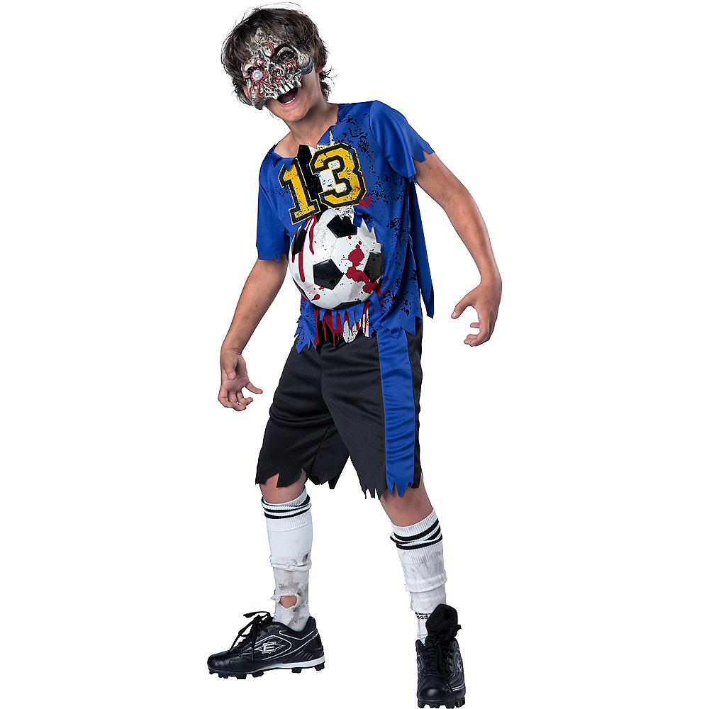 Nav Item for Boys Soccer Player Zombie Costume Image #1