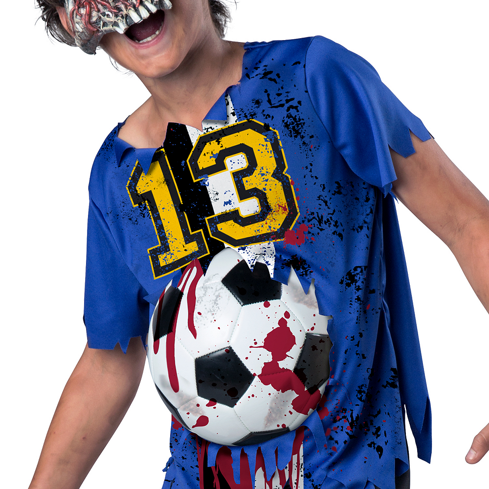 Nav Item for Boys Soccer Player Zombie Costume Image #3