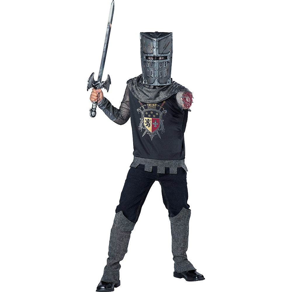 Boys One-Armed Black Knight Costume Image #1