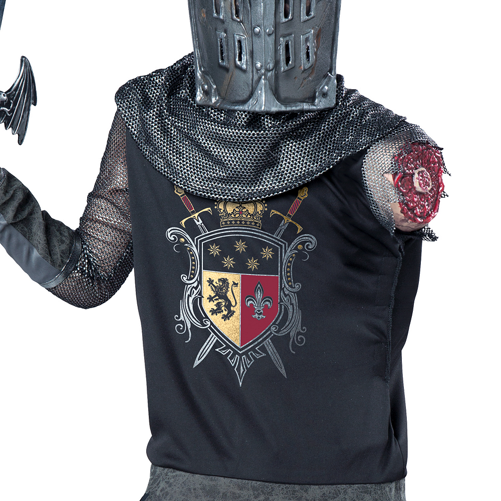 Boys One-Armed Black Knight Costume Image #3
