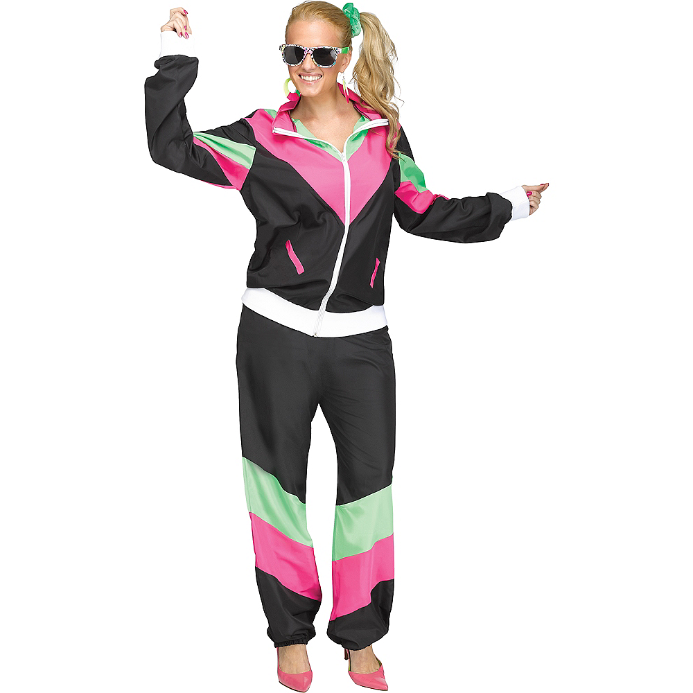 Womens 80s Sweat Suit Costume