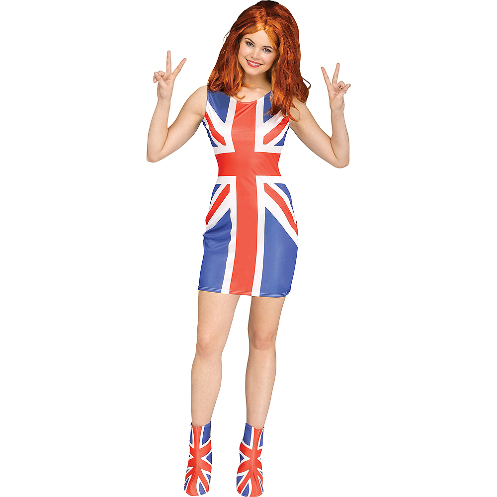 Womens Union Jack Pop Star Costume Image #1