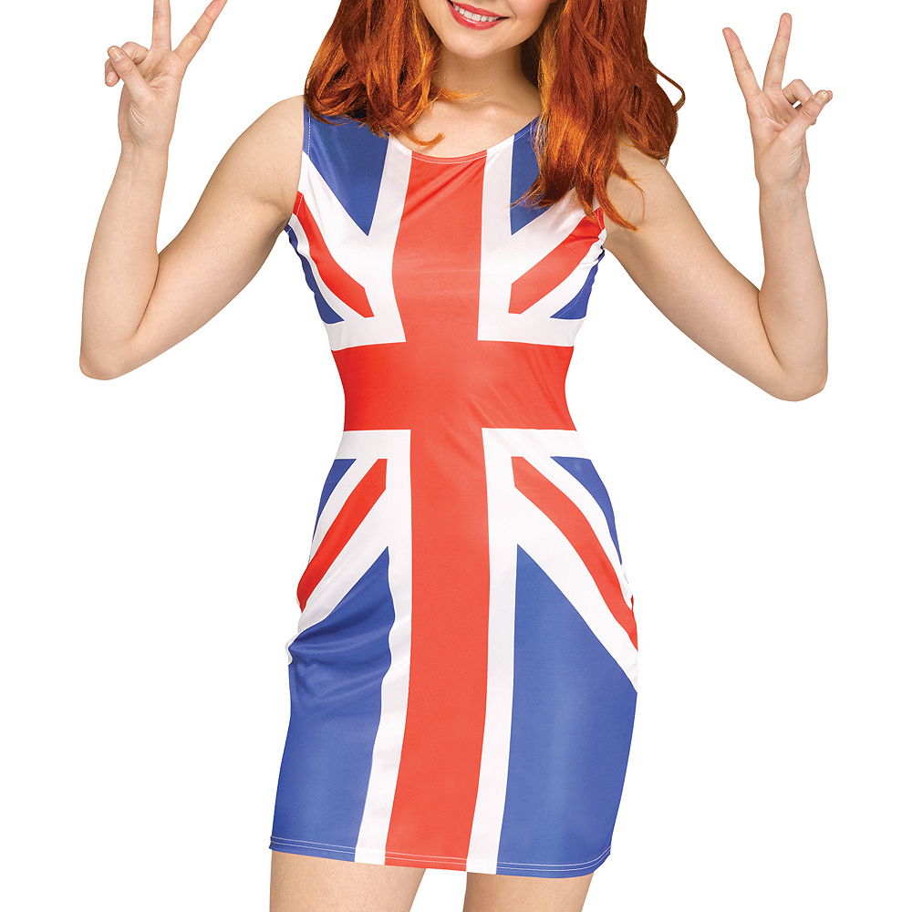 Womens Union Jack Pop Star Costume Image #2