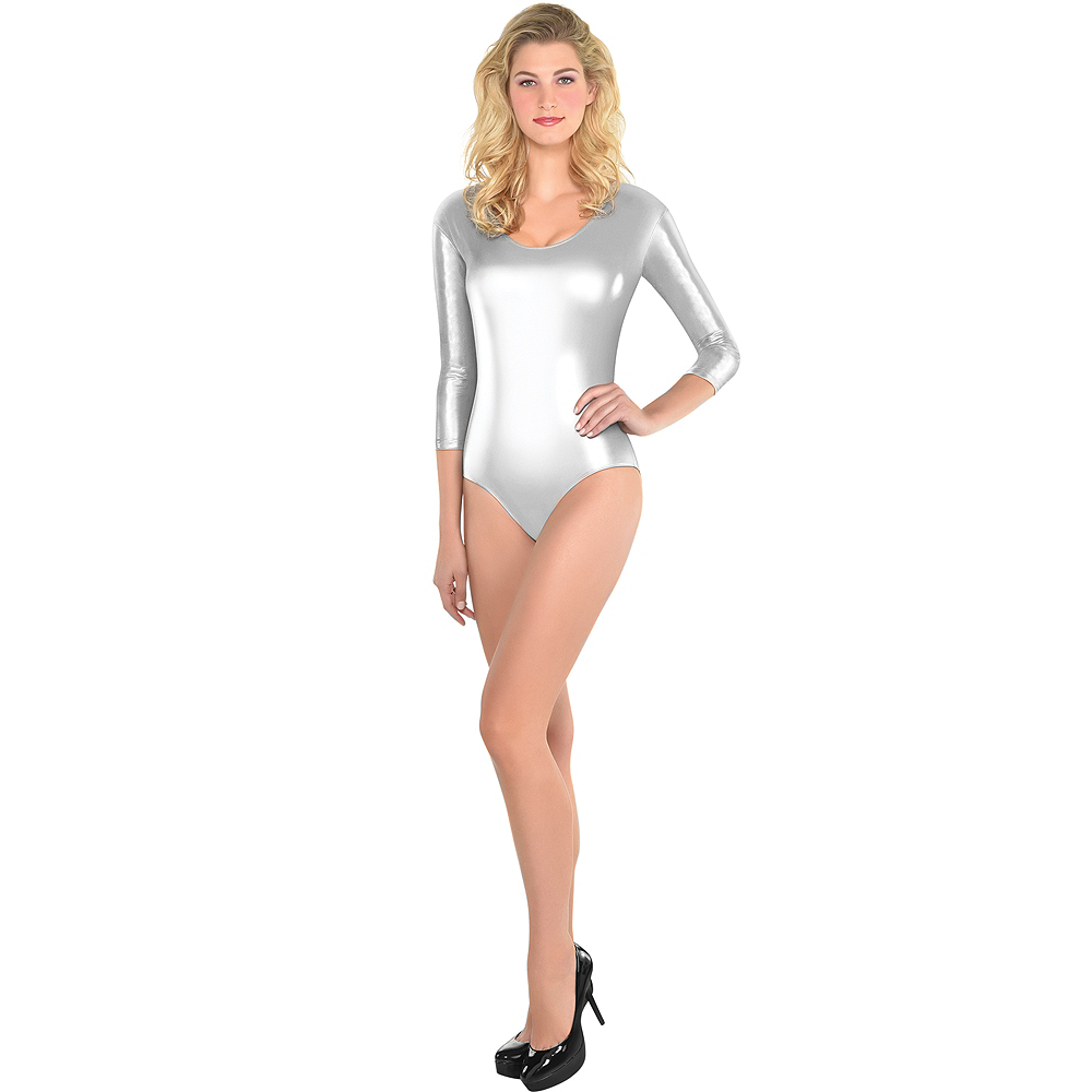 Nav Item for Womens Silver Bodysuit Image #1