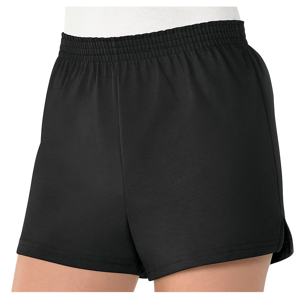 Nav Item for Womens Black Sport Shorts Image #1