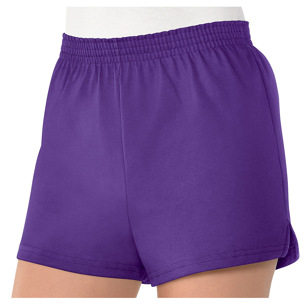 Womens Purple Sport Shorts Image #1