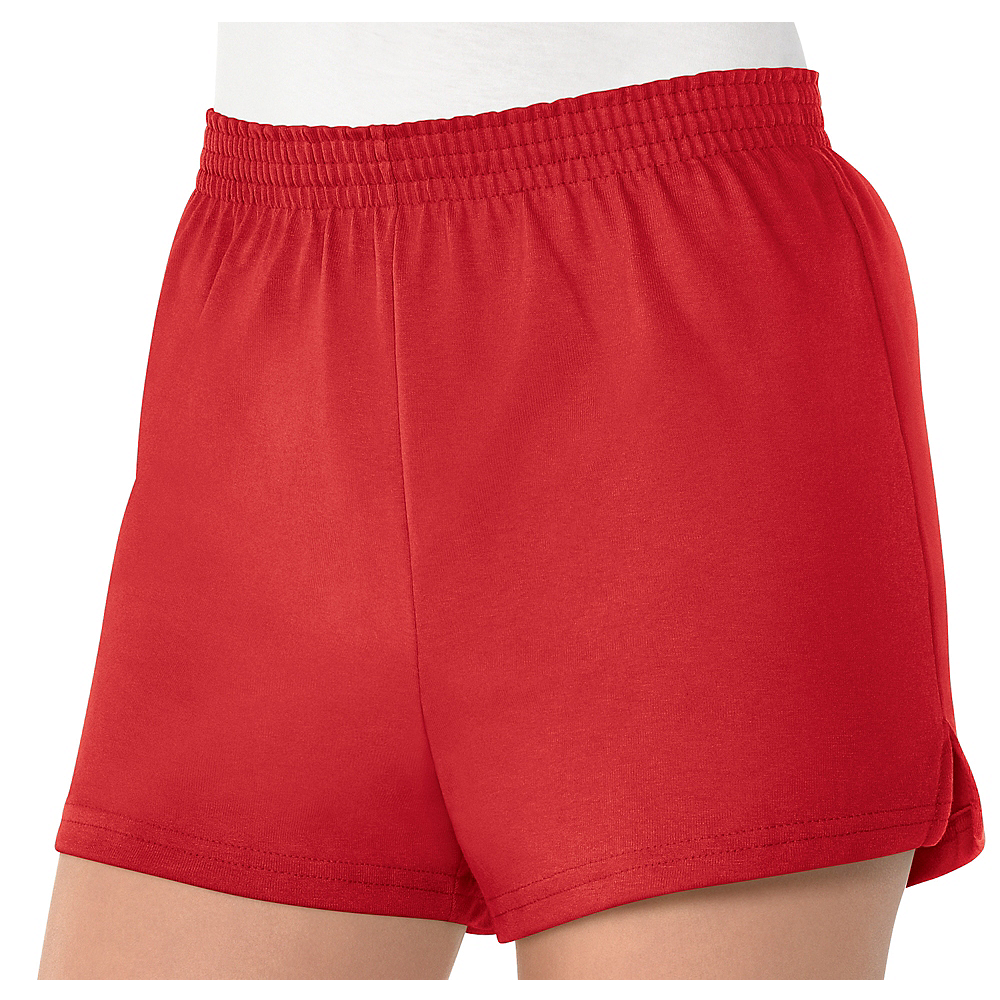 Womens Red Sport Shorts Image #1