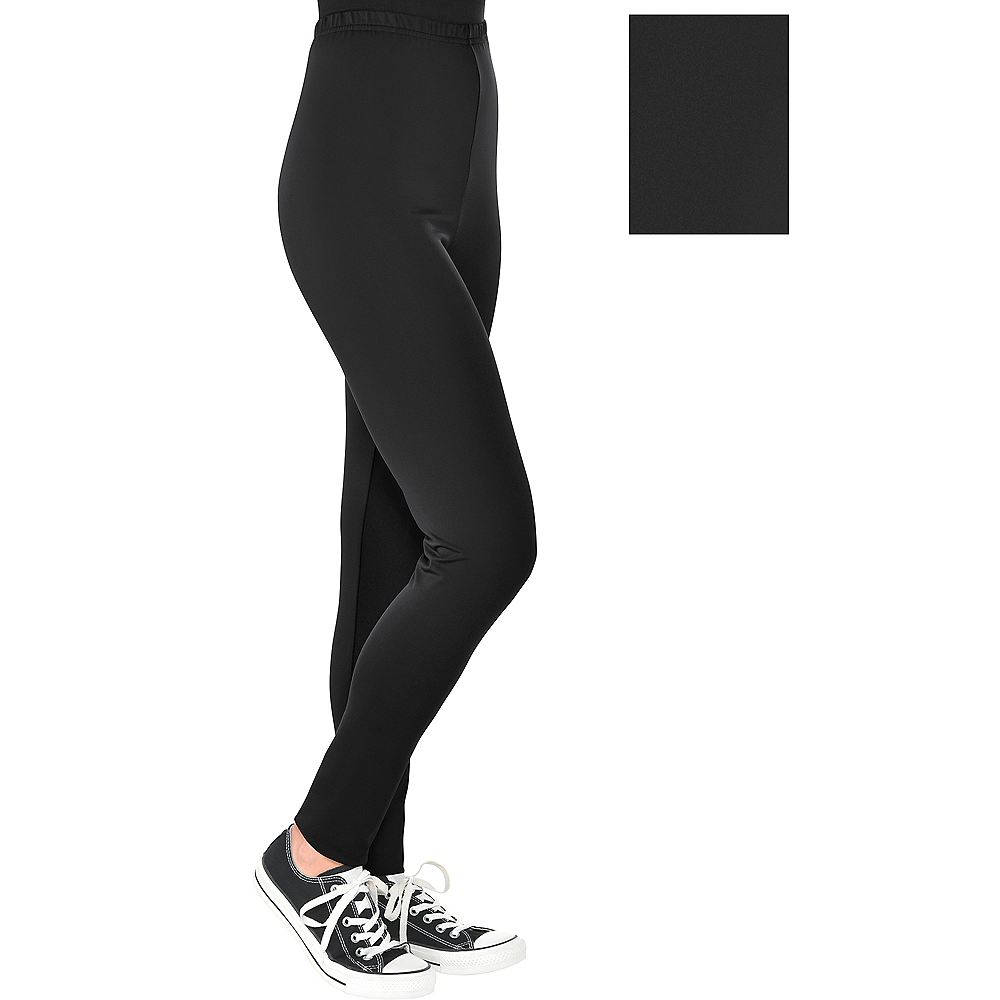 Womens Black Leggings Image #1