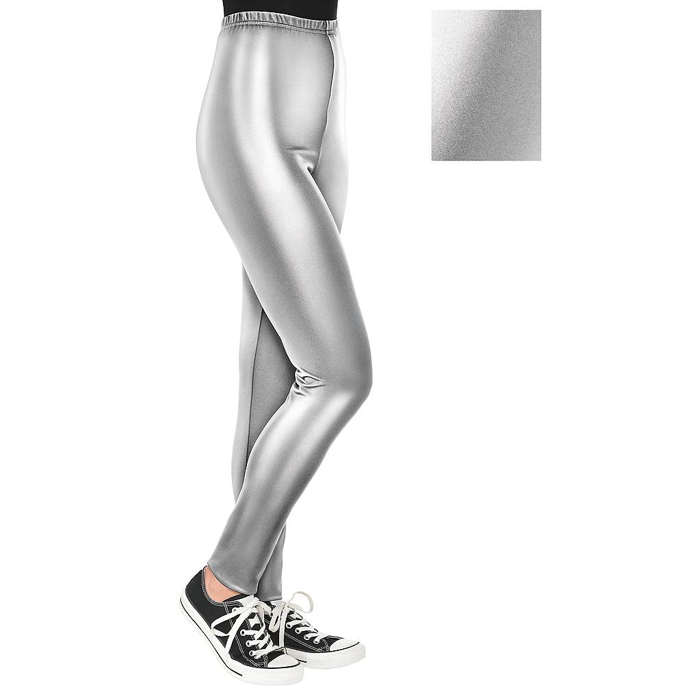 Womens Silver Leggings Image #1