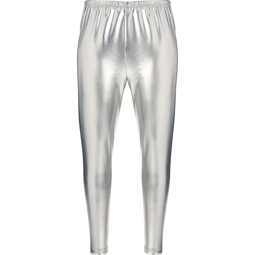 Womens Silver Leggings Image #2