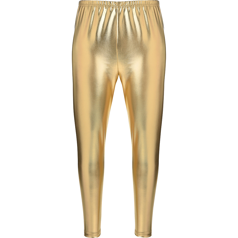 Womens Gold Leggings Image #2