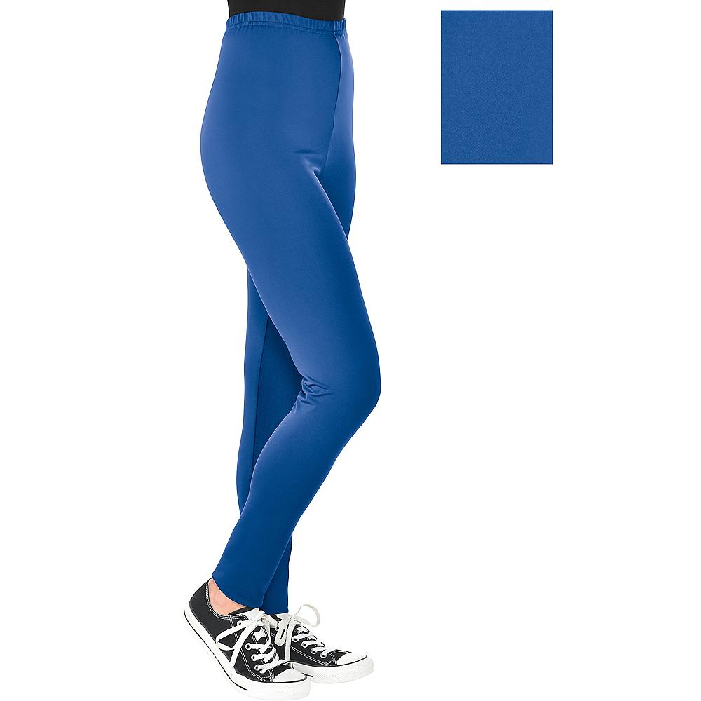 Womens Blue Leggings Image #1