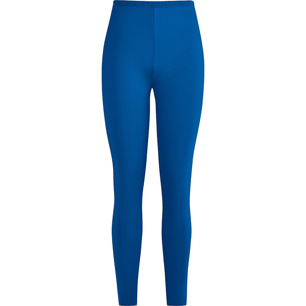 Womens Blue Leggings Image #2
