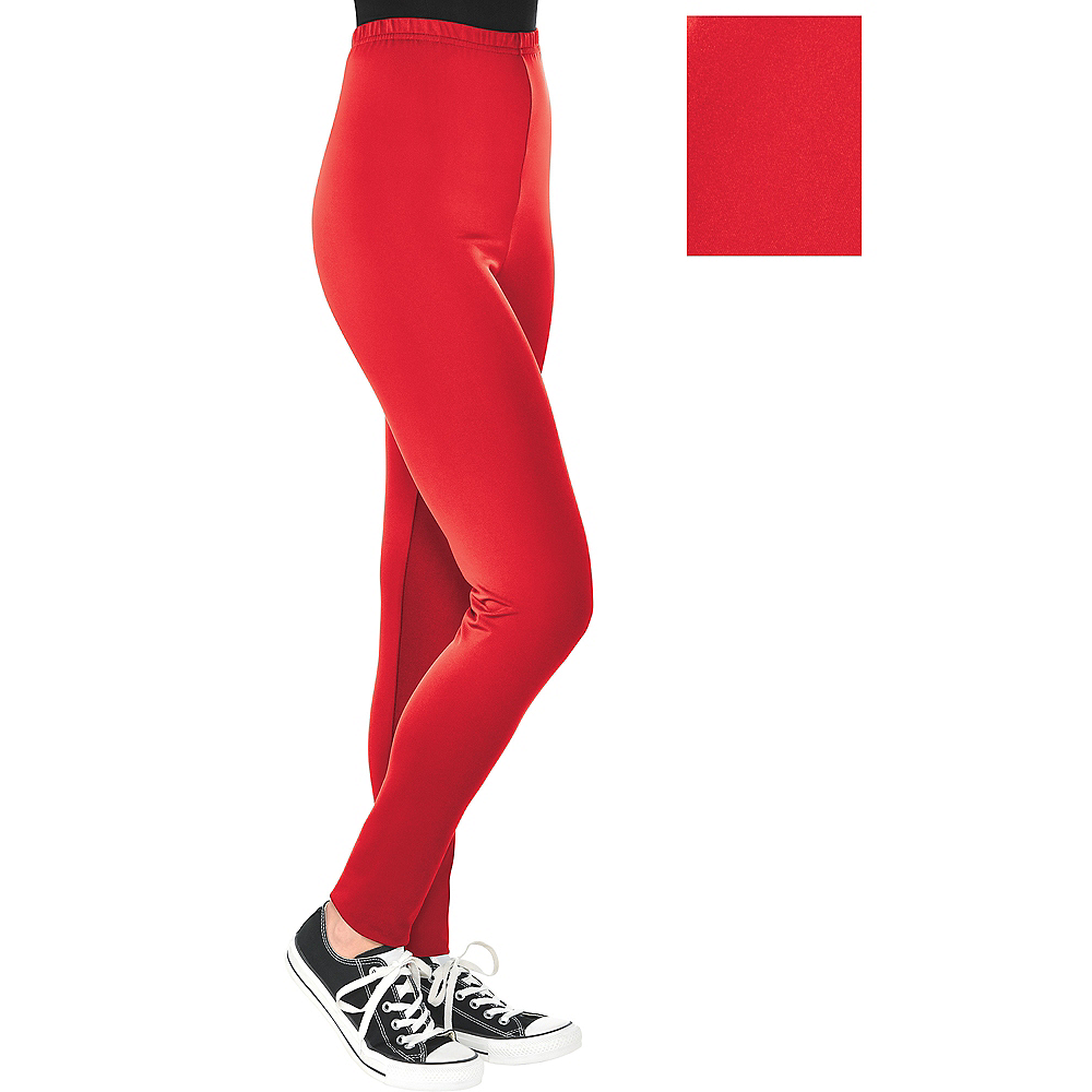 Womens Red Leggings Image #1