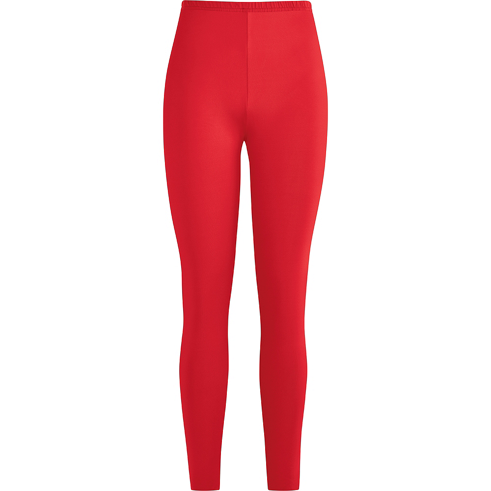 Womens Red Leggings Image #2