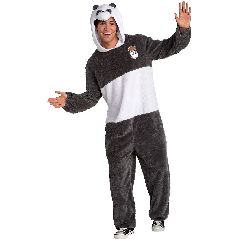 Nav Item for Adult Panda Bear One Piece Costume - We Bare Bears Image #1