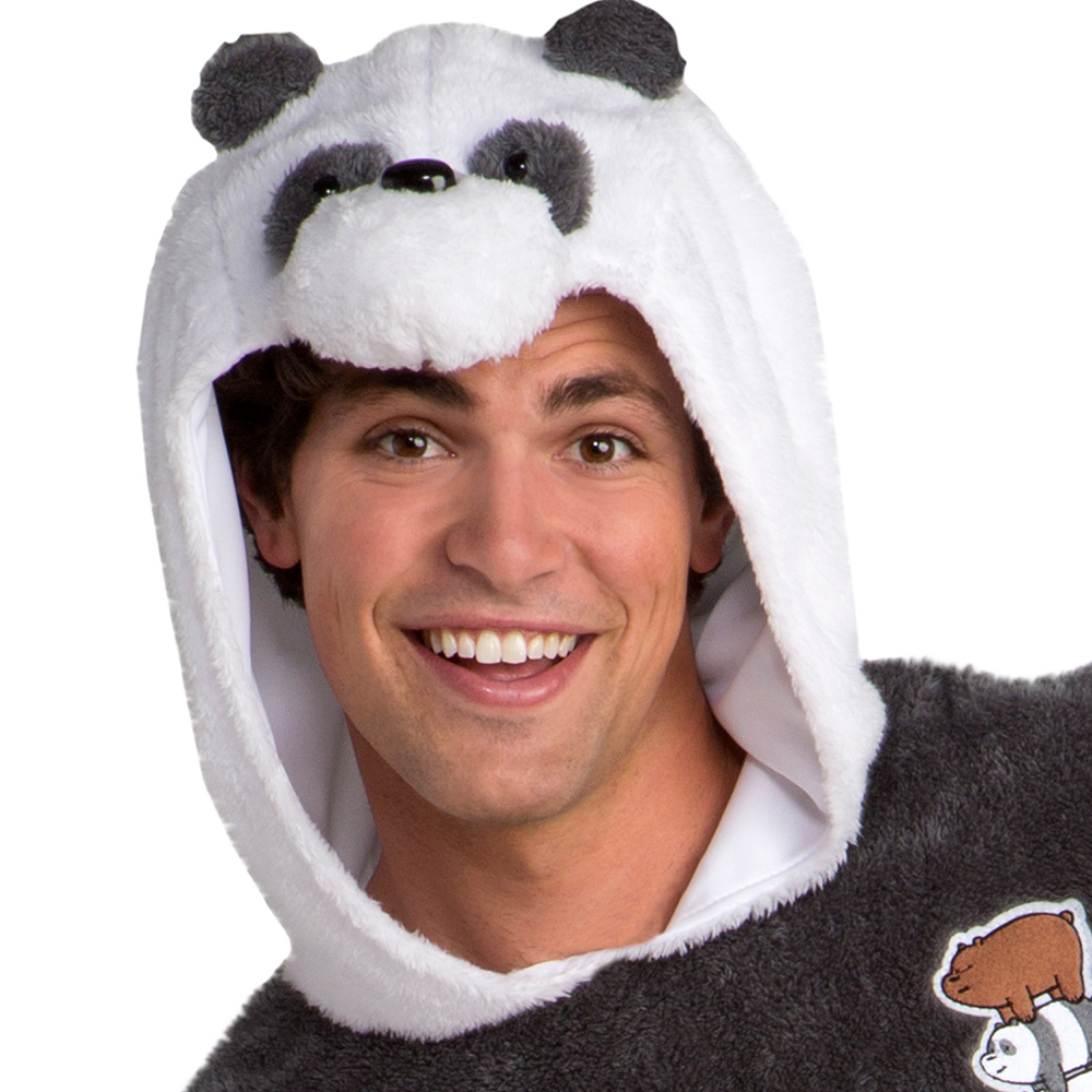 Nav Item for Adult Panda Bear One Piece Costume - We Bare Bears Image #2