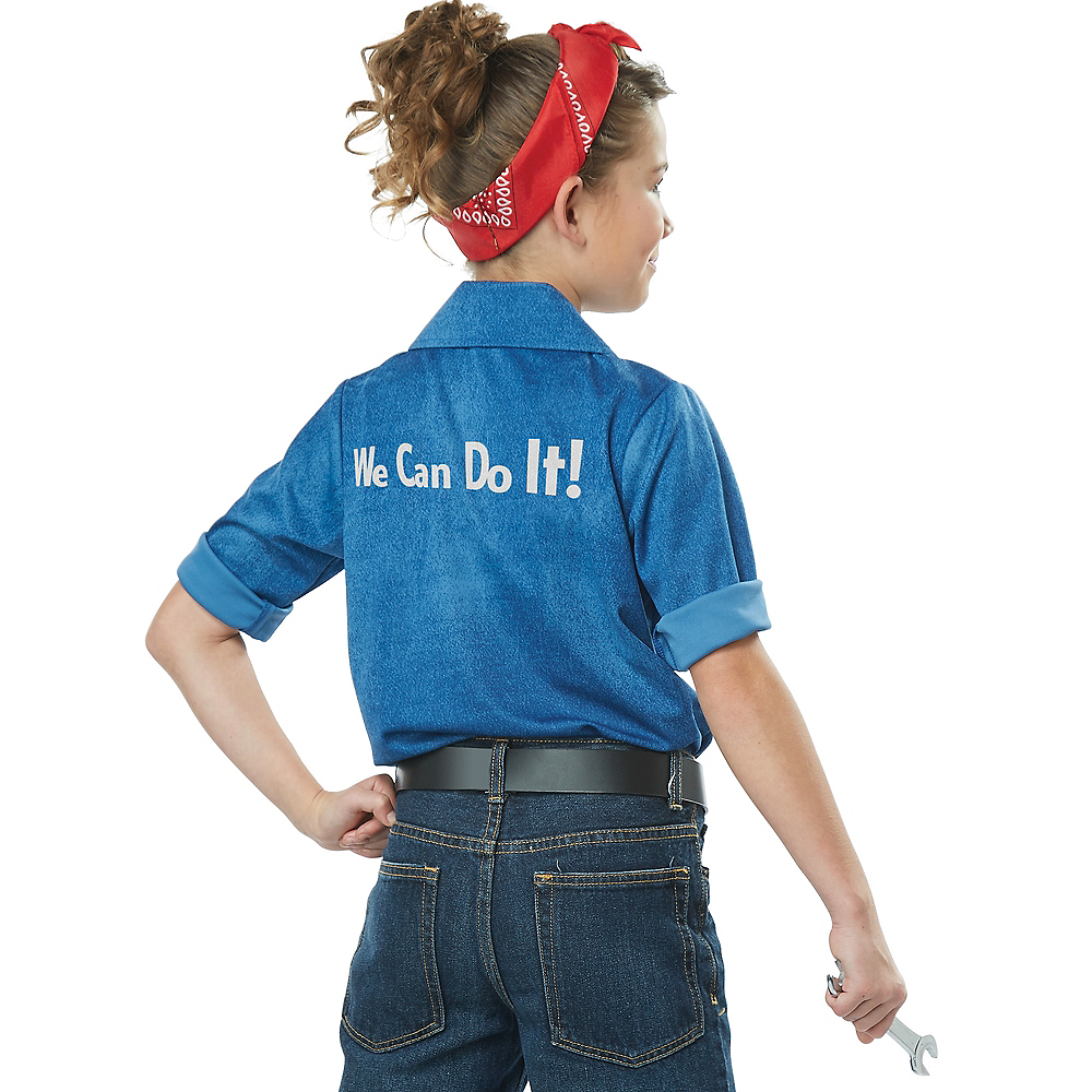 Girls Rosie the Riveter Costume Image #2
