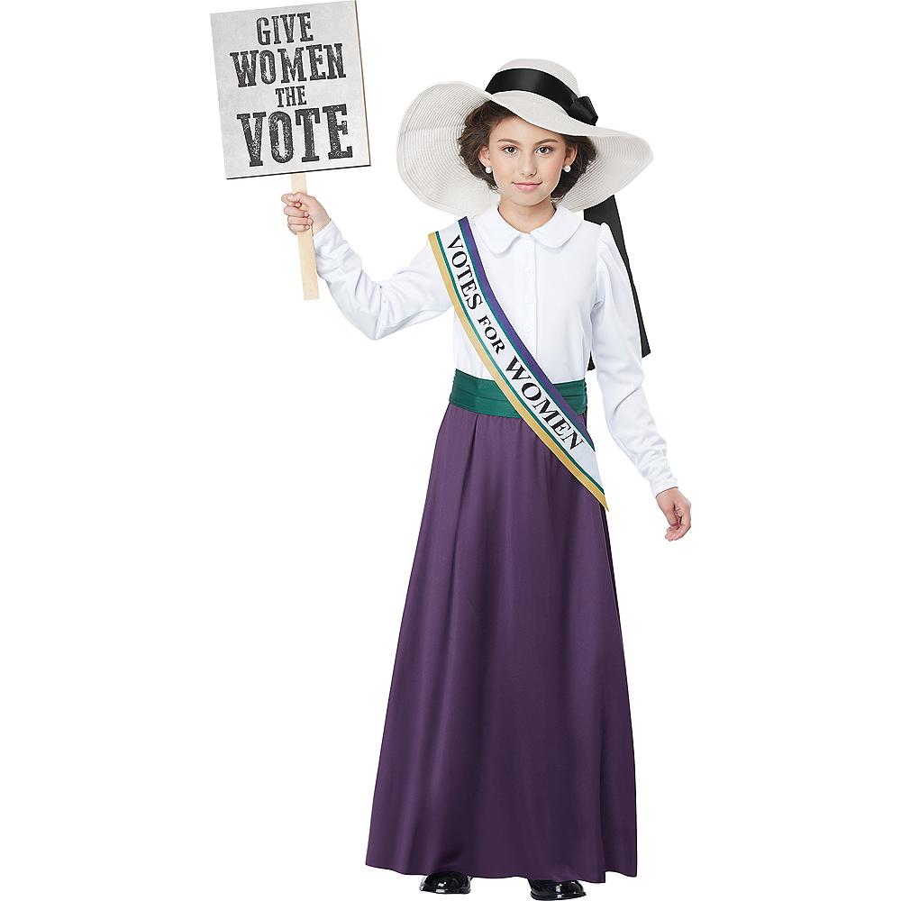Girls American Suffragette Costume Image #1