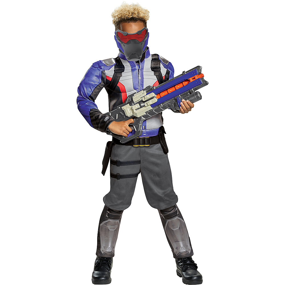 Boys Soldier: 76 Classic Muscle Costume - Overwatch Image #1
