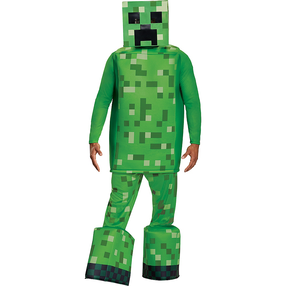 Mens Creeper Prestige Costume - Minecraft Image #1