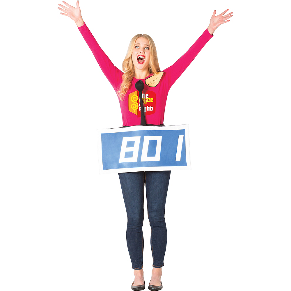 Adult Blue The Price Is Right Contestant Costume Image #1