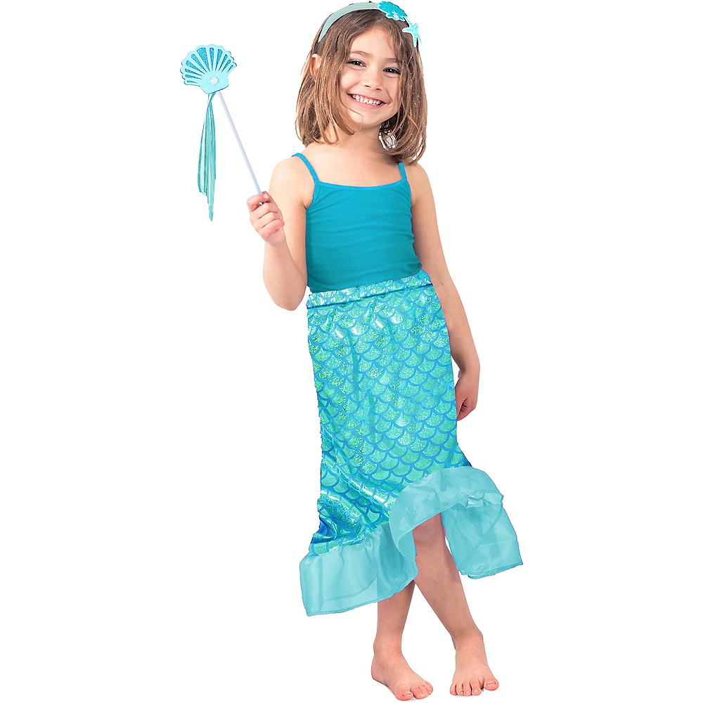 Child Blue Mermaid Costume Accessory Kit Image #1