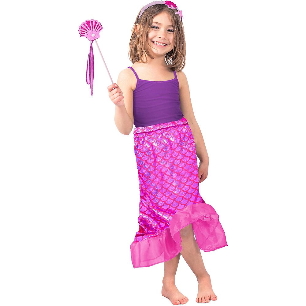 Child Pink Mermaid Costume Accessory Kit Image #1
