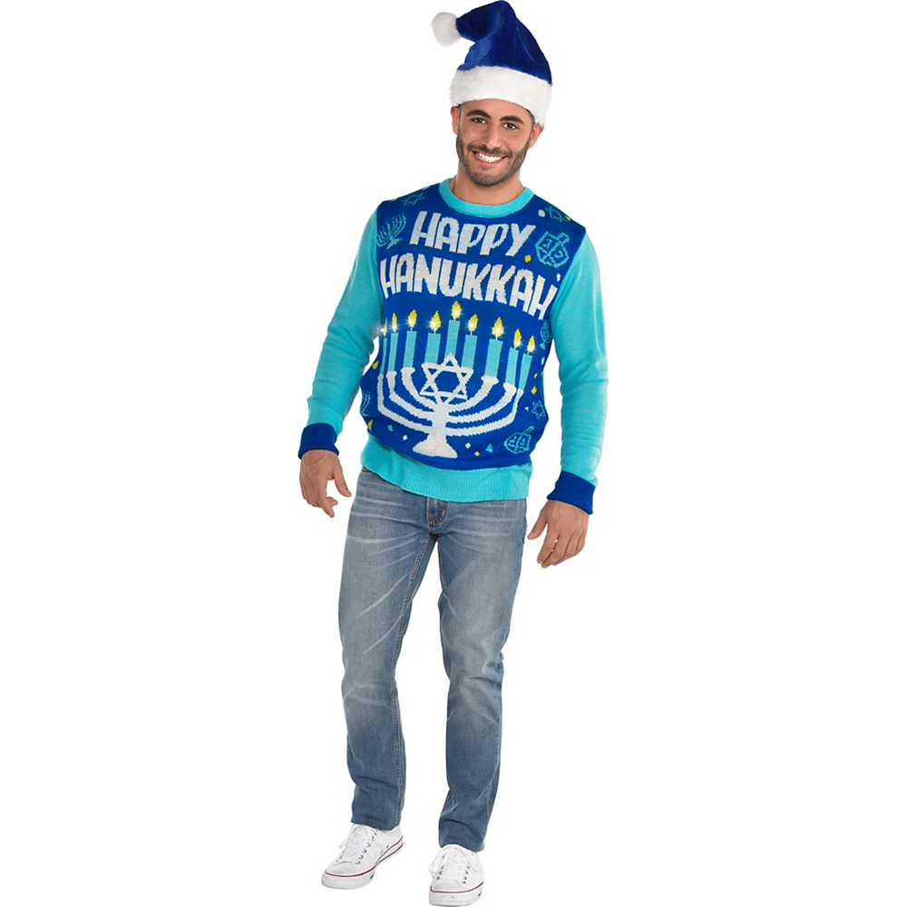 Happy Hanukkah Ugly Hanukkah Sweater Image #2