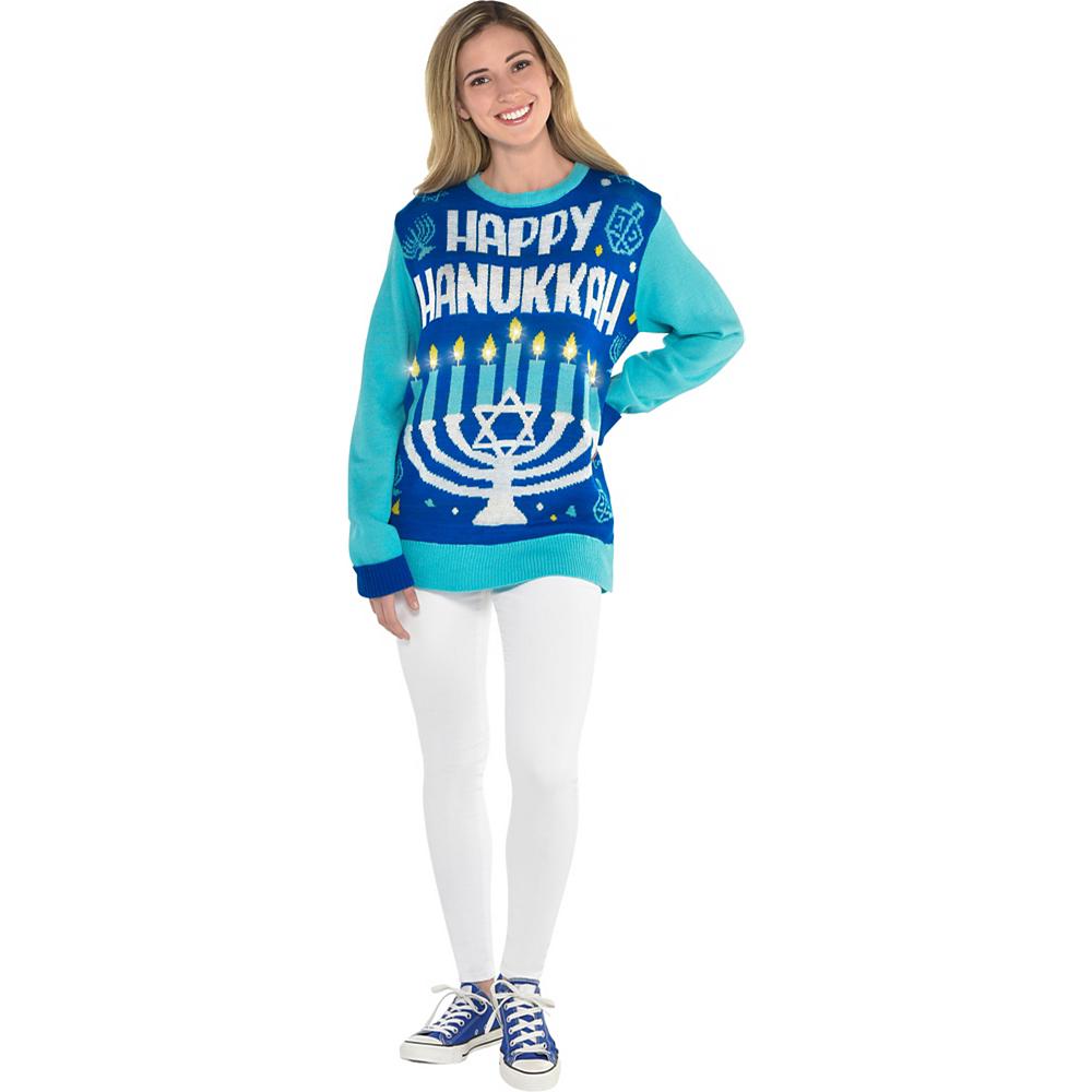 Happy Hanukkah Ugly Hanukkah Sweater Image #3