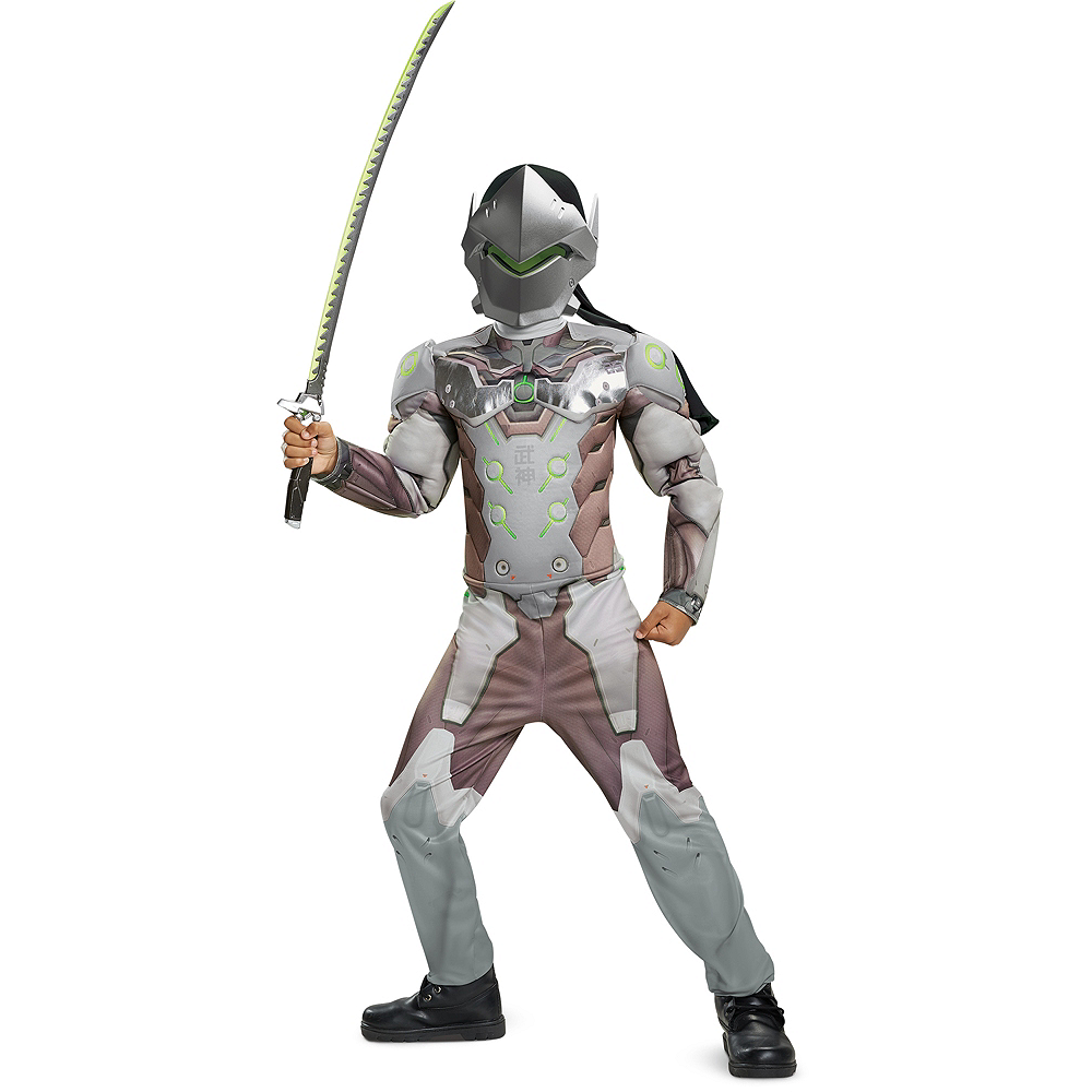 Boys Genji Muscle Costume - Overwatch Image #1
