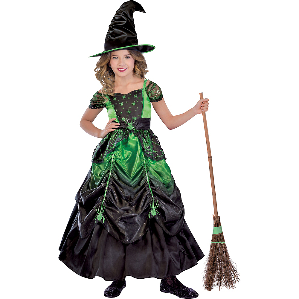 Girls Gothic Witch Costume Image #1