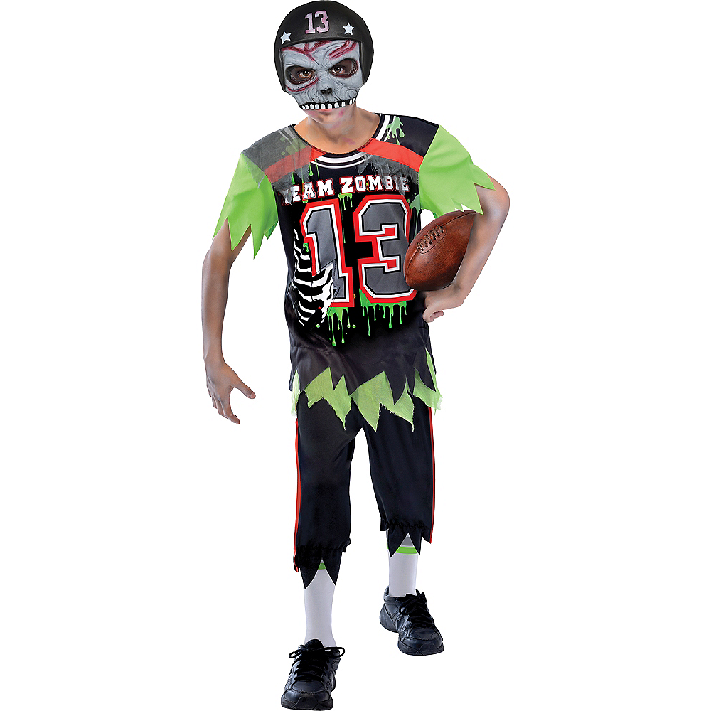 Nav Item for Boys Zombie Football Player Costume Image #1