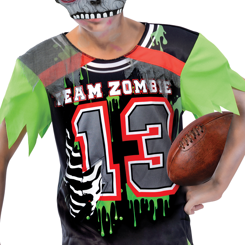 Nav Item for Boys Zombie Football Player Costume Image #3