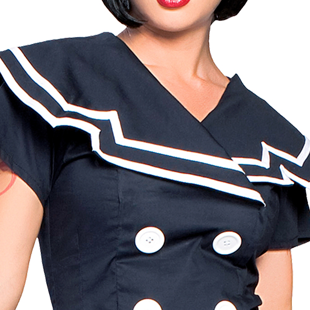 Womens Pin-Up Captain Sailor Costume Image #4