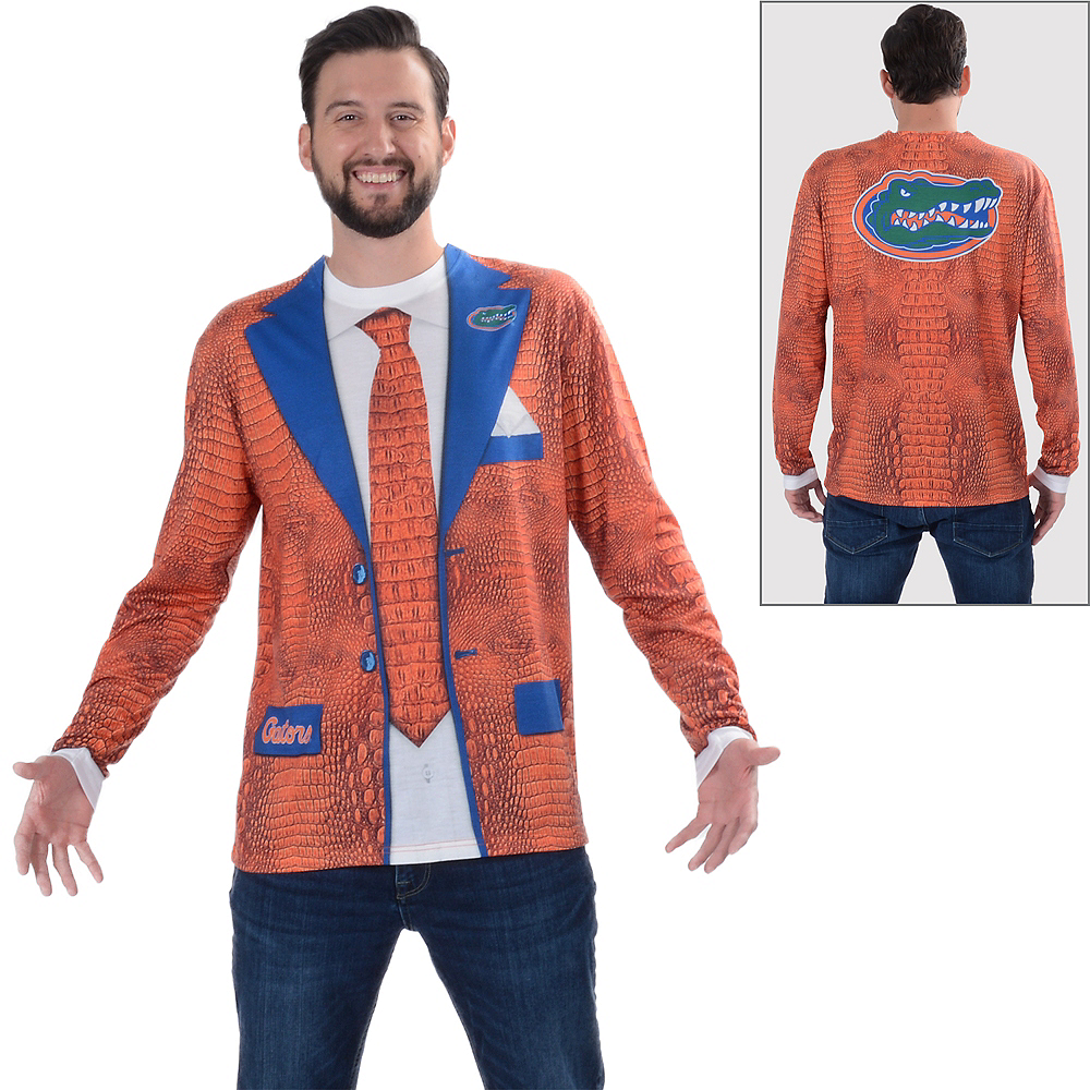 Mens Florida Gators Orange Skin Suit Long-Sleeve Shirt Image #1