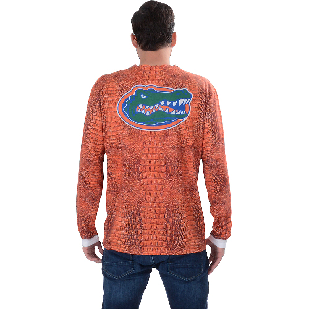 Mens Florida Gators Orange Skin Suit Long-Sleeve Shirt Image #2