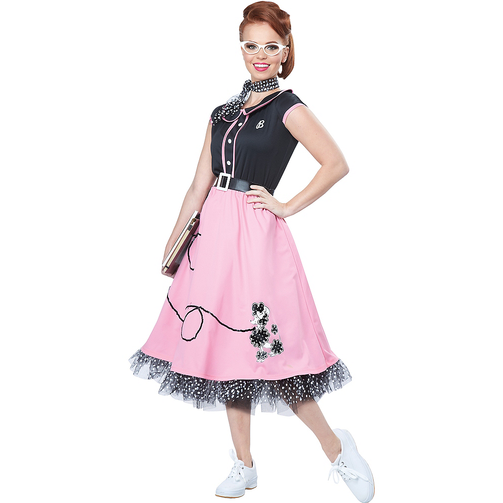 5a605c713f50 Nav Item for Womens 50s Poodle Skirt Costume Image #1 ...