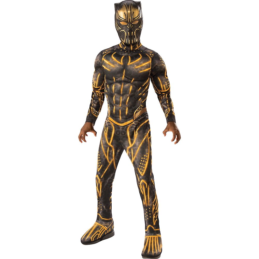 Nav Item for Boys Erik Killmonger Muscle Costume - Black Panther Image #1