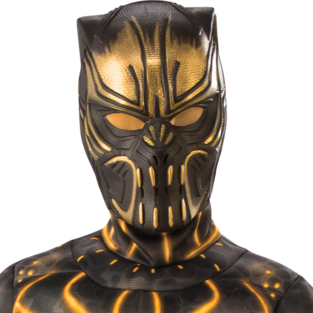 Boys Erik Killmonger Muscle Costume - Black Panther Image #3
