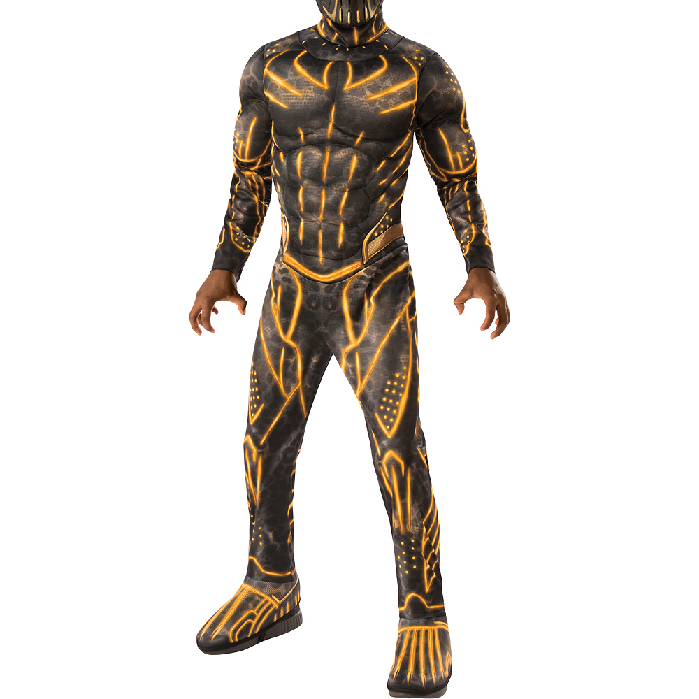 Boys Erik Killmonger Muscle Costume - Black Panther Image #4