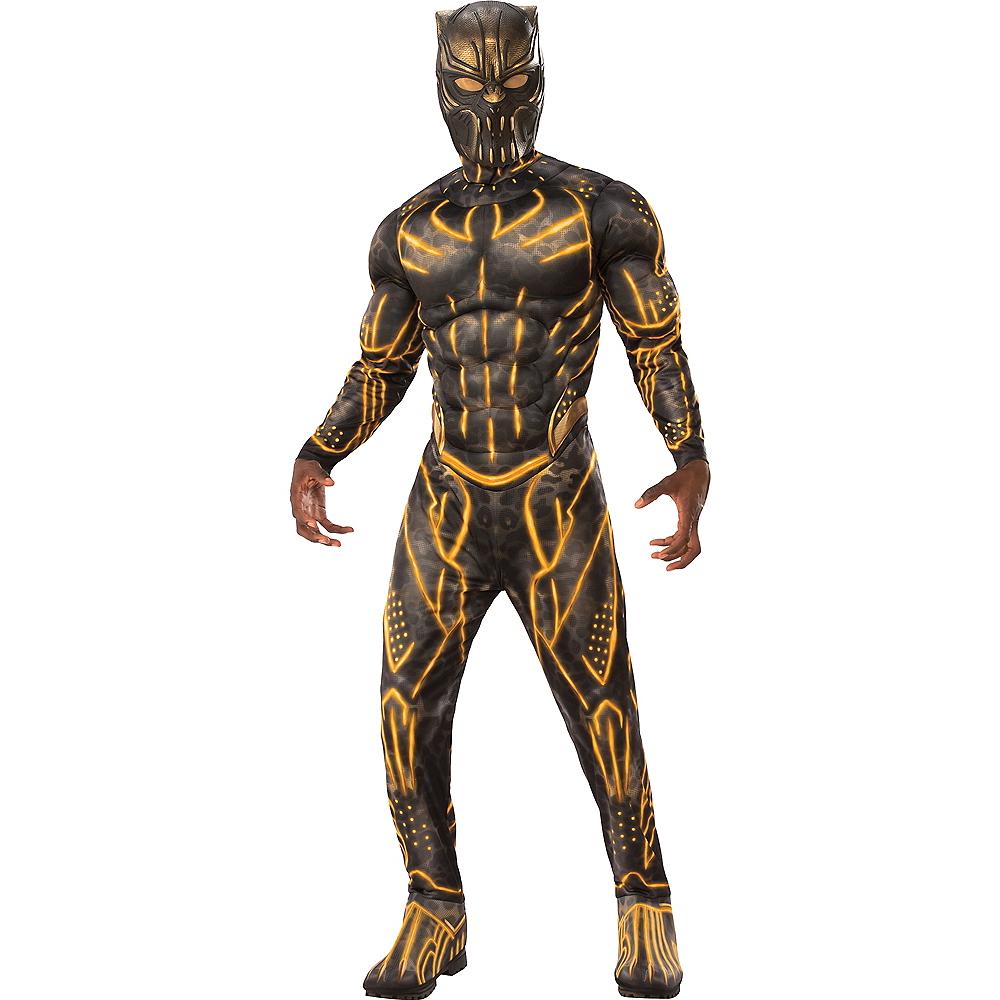 Mens Erik Killmonger Muscle Costume - Black Panther Image #1