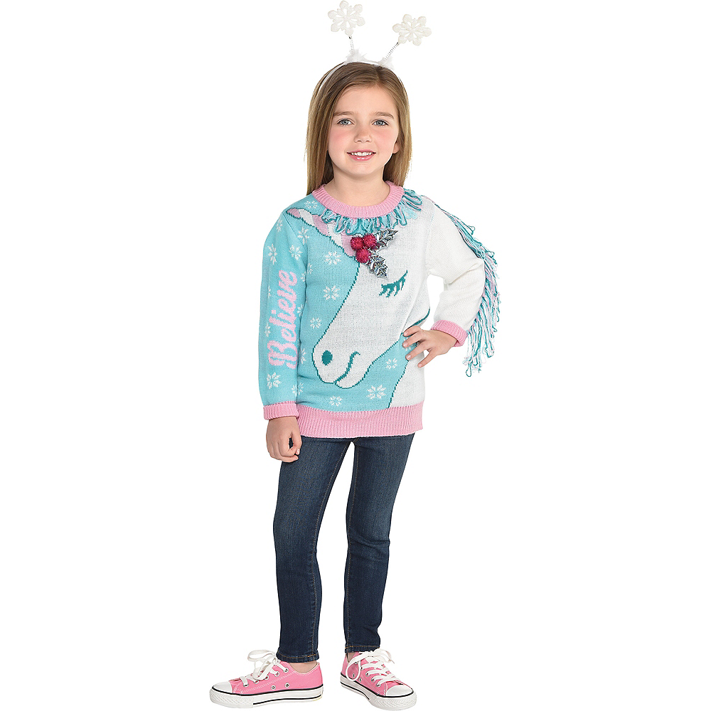 Child Unicorn Ugly Christmas Sweater Party City